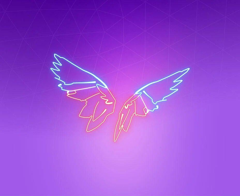 Neon Wings Back-bling