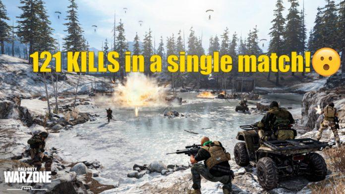 Warzone 121 kills world record