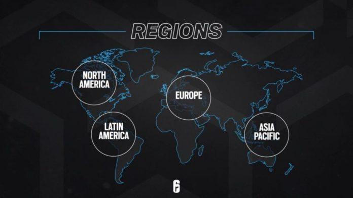 Rainbow SIx siege esports regions