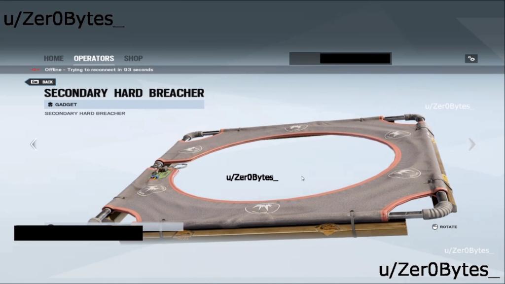 r6s secondary hard breacher leak