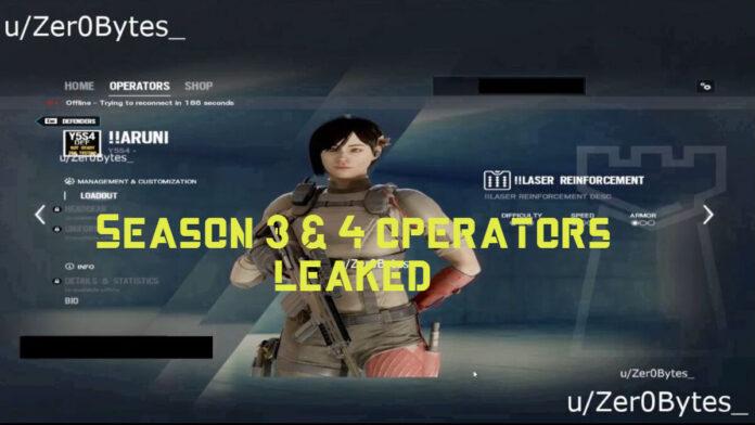 R6s season 3 & 4 operators leaked
