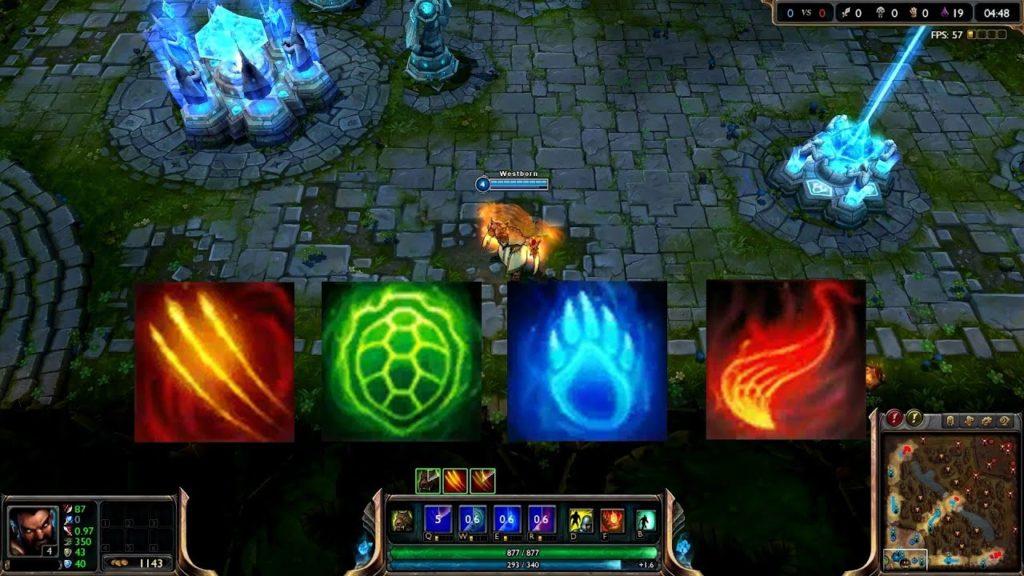 Udyr's ability icons
