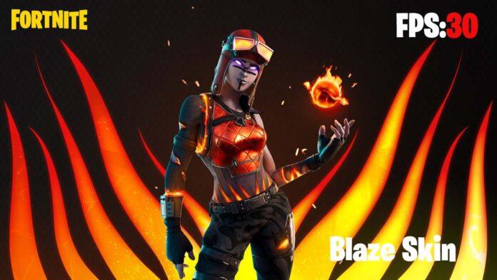 fortnite Blaze Skin Fps Issue