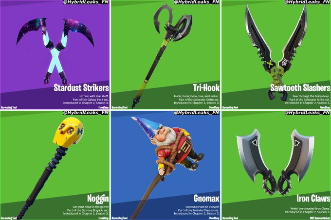 pickaxes added in 13.30 update