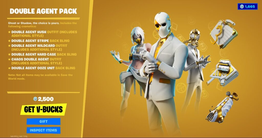 Double Agent Pack Price 2500 vb