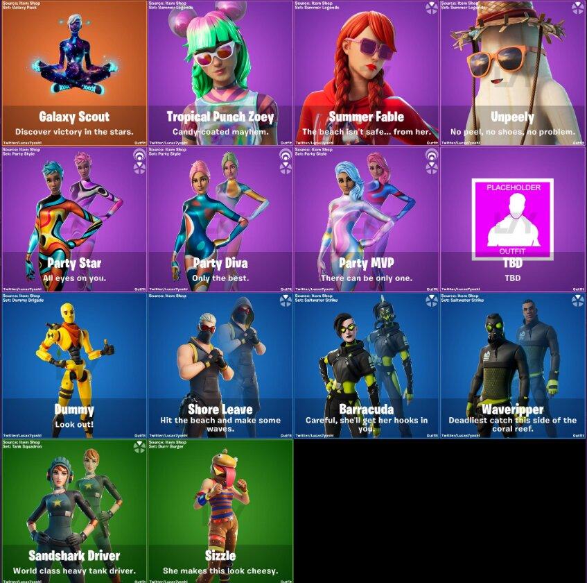 SKins added in 13.30 update