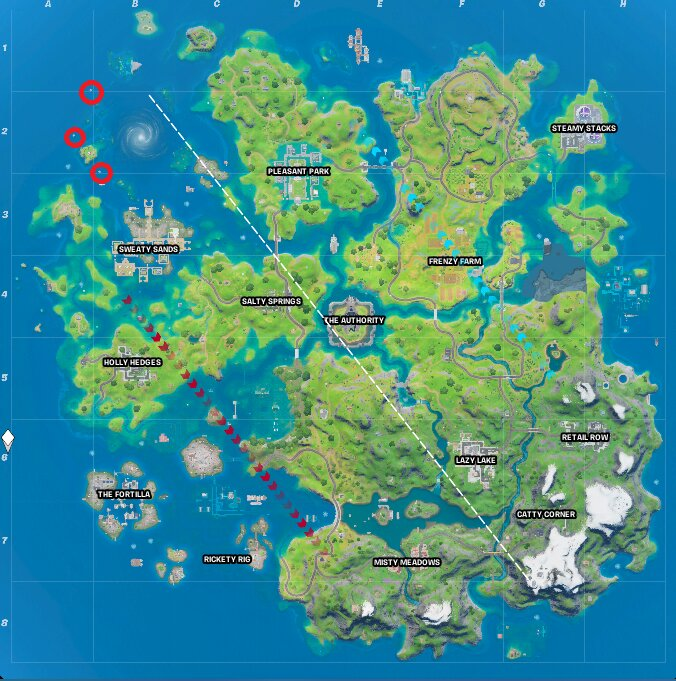 Coral Cove Trident locations