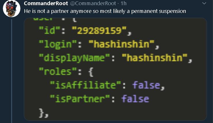 Twitter user CommanderRoot responds