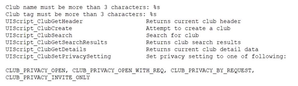 Apex clubs feature code leak
