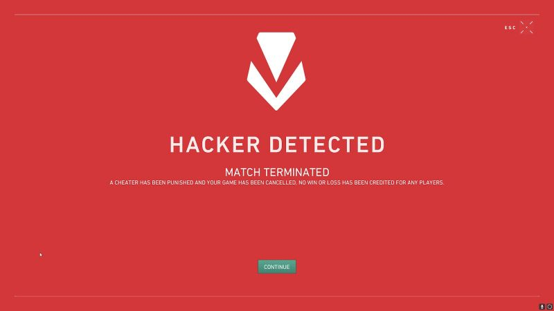 Vanguard Anti-cheat VALORANT ban