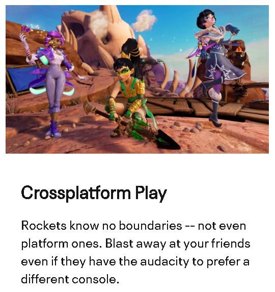 Rocket Arena crossplatform