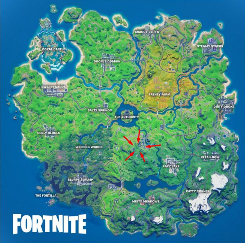 Fortnite Season 4 Sentinel Graveyard map Location