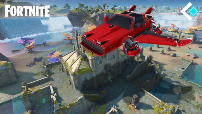 Fortnite Cars flying