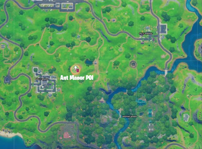 Ant Manor POI Location on Map