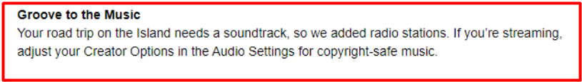 Epic Games mail about radio stations