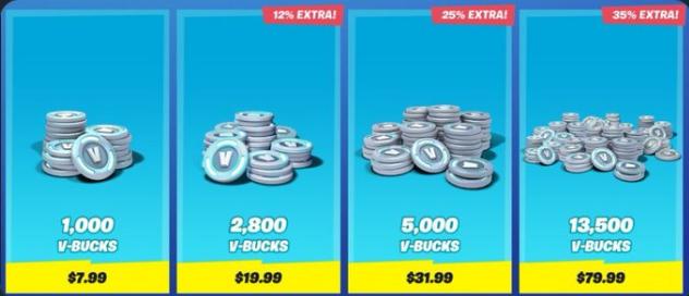 New Price of Vbucks