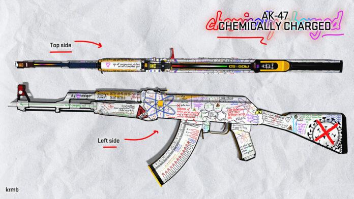 Chemically Charged AK-47 CSGO skin