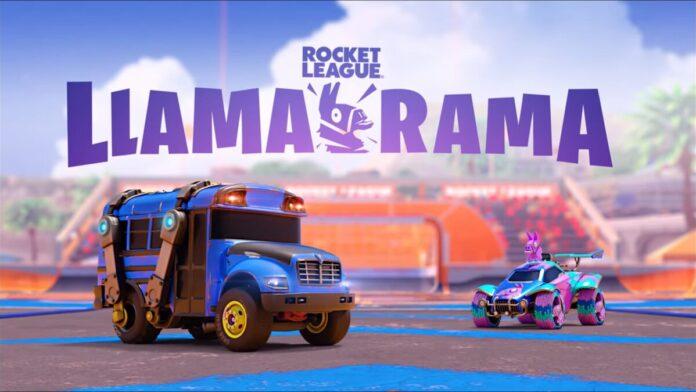 Fortnite X Rocket League Collaboration Llama-rama event