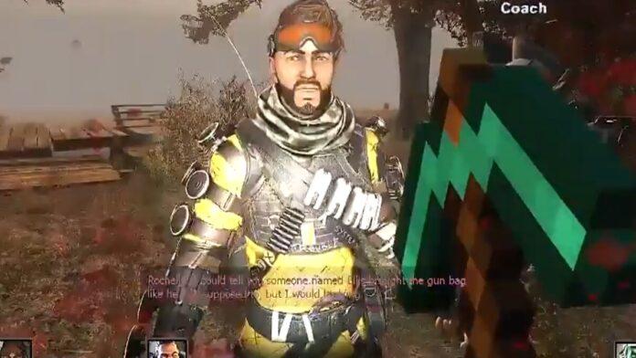 apex legends, fall guys, Among us, Minecraft, left 4 dead mashup