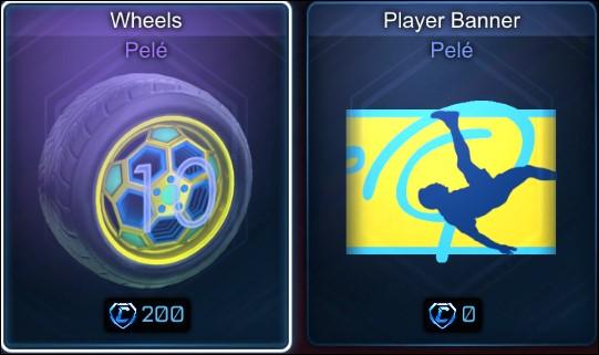 Pelé wheels and player banner rocket league