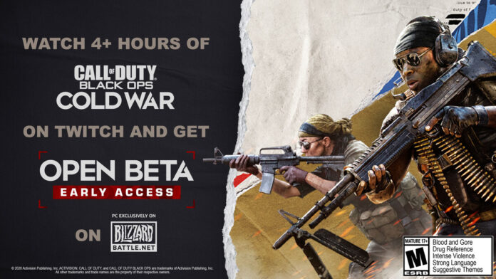 black ops cold war early access twitch drop