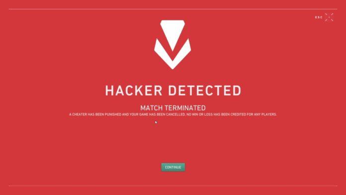 VALORANT cheats detected
