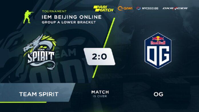 Spirit beat OG 2:0