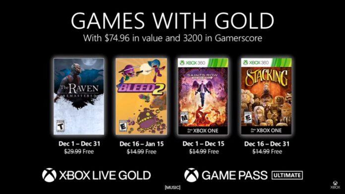 Games Gold December 2020
