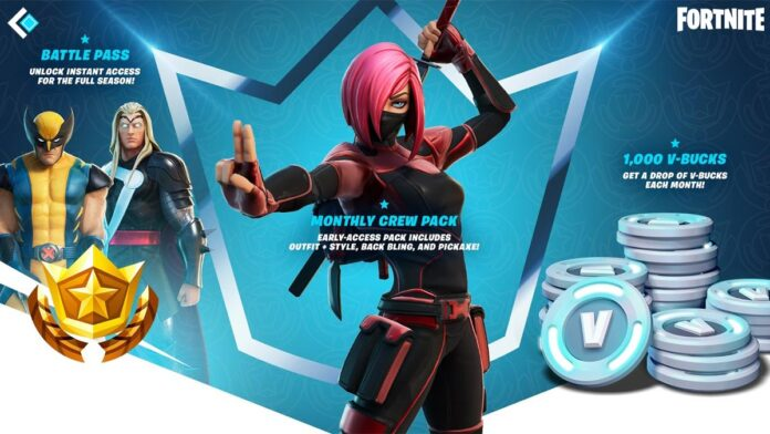 Fortnite Monthly Crew Pack Subscription Service