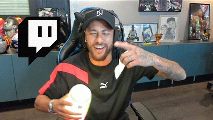 Neymar During one of his streams