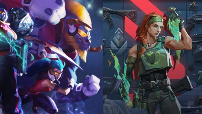 the League of Legends World Championship skins concept in VALORANT