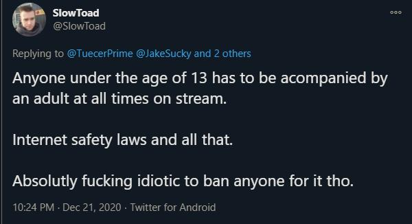Slowtoad's explanation of tayhuhu's ban