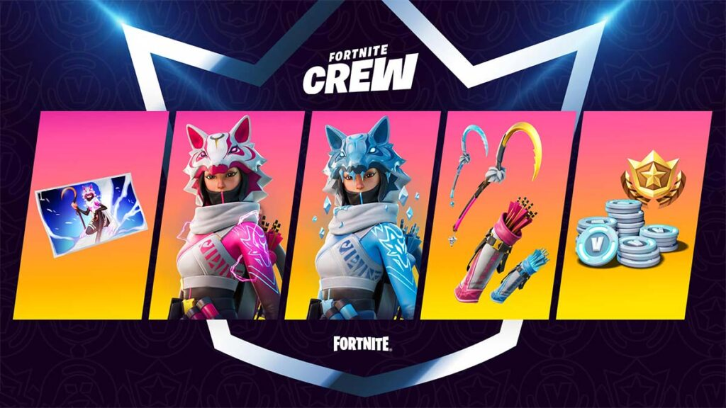 Fortnite February Crew Pack rewards