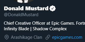 "Donald Mustard changed his location to ""Arashikage Clan"""