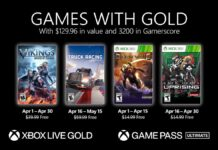 Xbox Live Games Gold April 2021