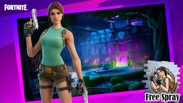 Fortnite Lara Croft Manor Creative for free spray
