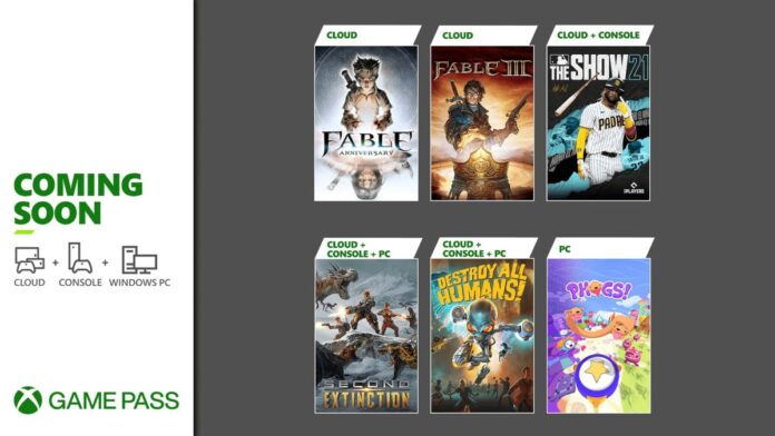 Xbox Game Pass new games April