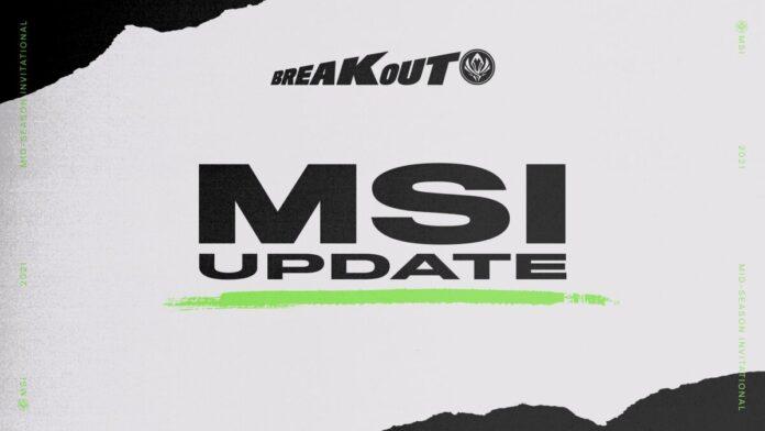 MSI Representative Update