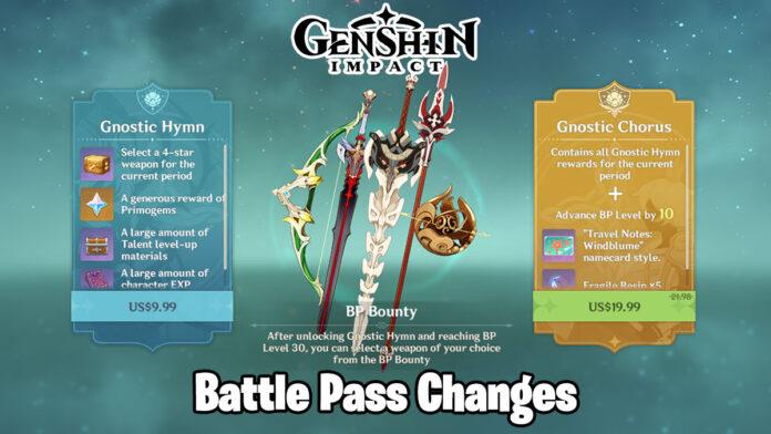 Genshin Impact Battle Pass Mission Changes