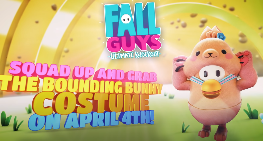 Fall Guys Bounding Bunny Cstume