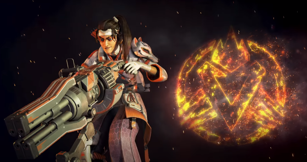 Apex Legends Legacy Battle Pass: Rampart Legendary skin with turret