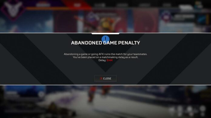 Arenas AFK penalty bug