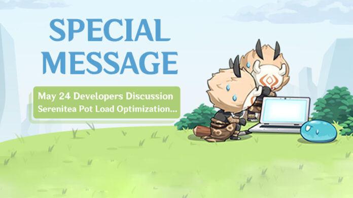 Genshin IMpact's may 24 dev discussion banner