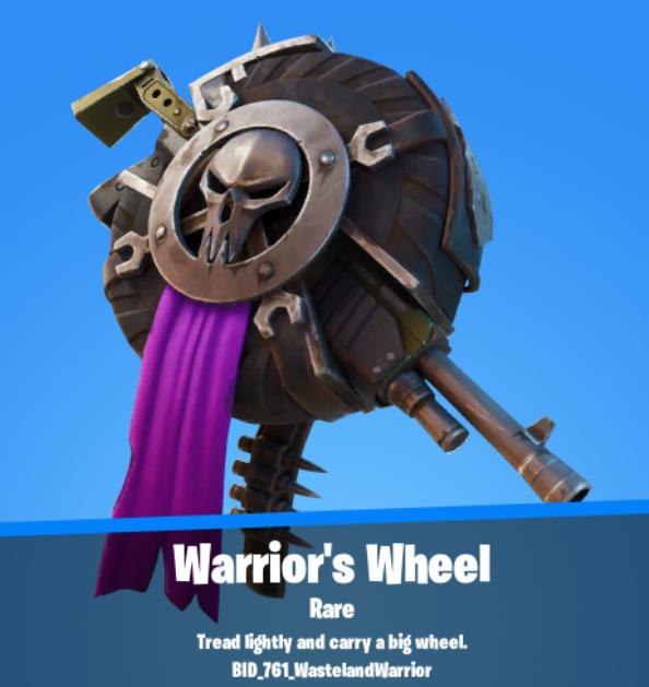 Warrior's Wheel Backbling