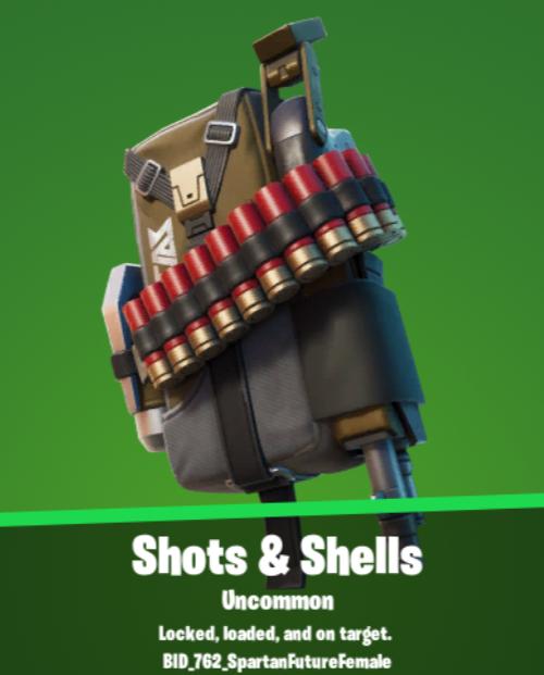 Shots & Shells Backbling