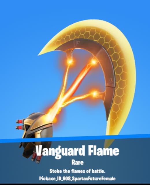 Vanguard Flame Pickaxe