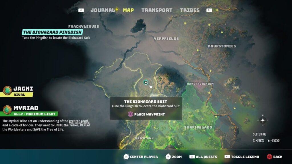 Biomutant Pingdish 6E Map