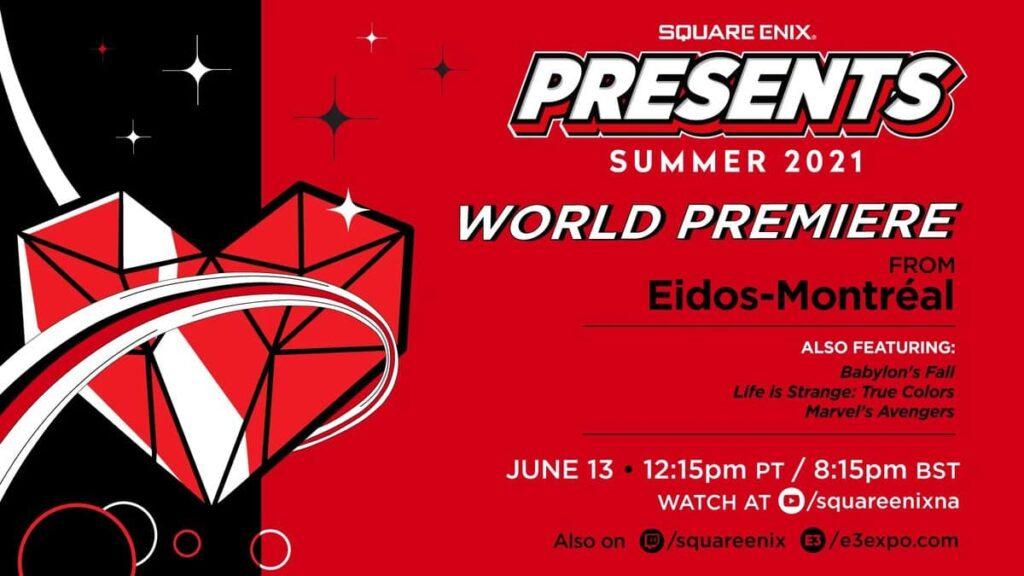 E3 2021 Schedule Guide Sqaure Enix