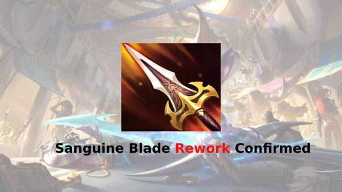 Sanguine Blade rework