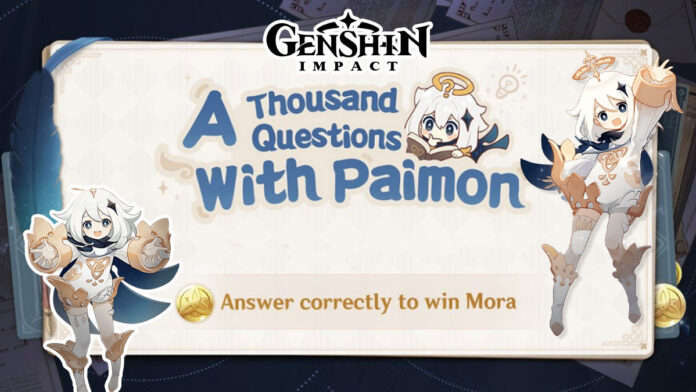 A Thousand Questions With Paimon event